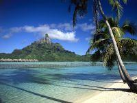 France d'Outre-Mer Tahiti, Plage paradisiaque à Tahiti